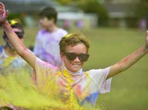 Rangeville State School students lap up colour run