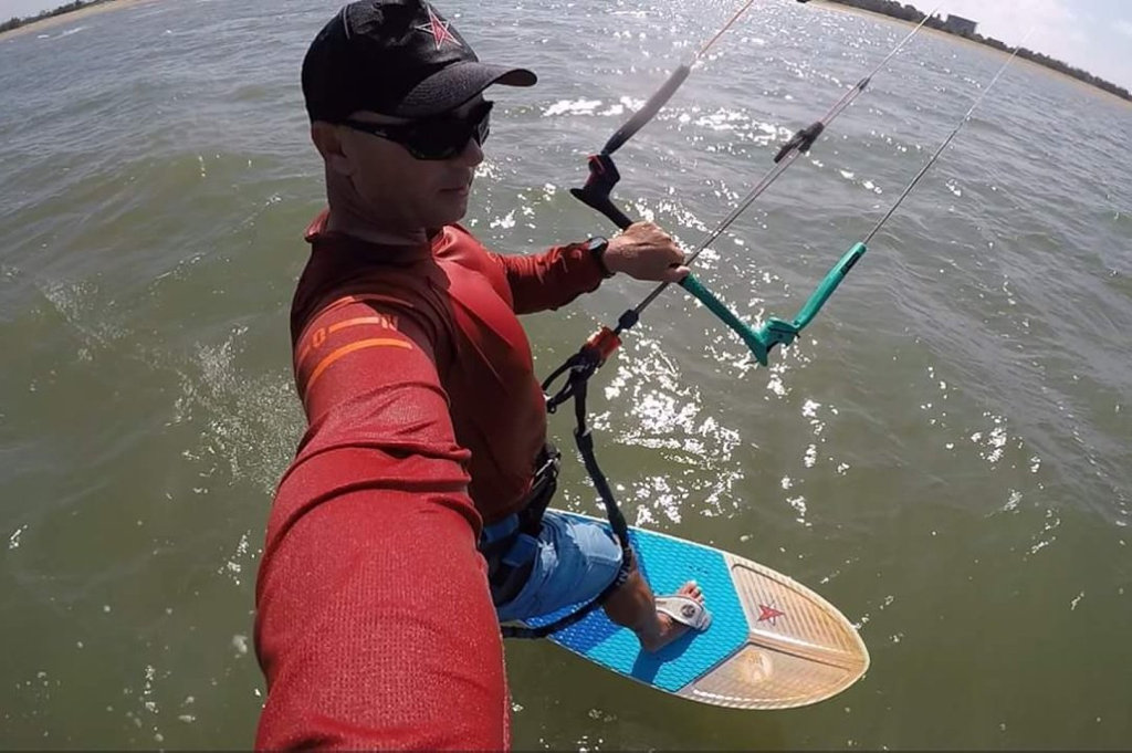 Alex Petrov of Adrenalin Rush Kiteboarding.
