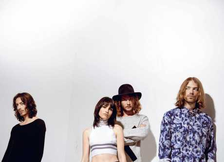 The Preatures feature Isabella Manfredi on vocals/keyboards, Jack Moffitt, Thomas Champion and Luke Davison.