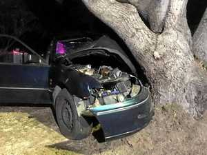 UPDATE: Woman in serious condition after car hits tree