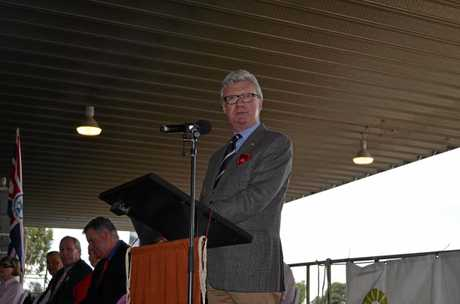 OFFICIALLY OPEN: Queensland Governor Paul de Jersey opens the 148th Dalby and District Show.