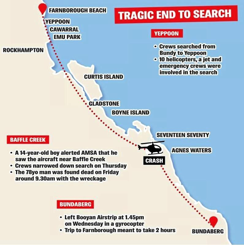 A timeline map of what unfolded during the search for Tim