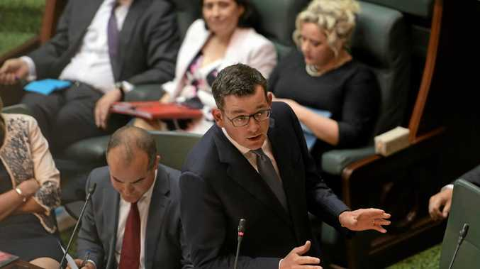 ROBUST FORUM: Victorian Premier Daniel Andrews speaks during Question Time in the lower house at the Victorian Parliament in Melbourne.