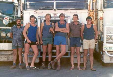 THE ORIGINAL: First team of Wickham truck drivers Garry Aitken, Wayne Ross, Thomas Stonehouse, Merv Ross, Garth Power and Graham Keogh in 1985.