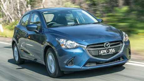 Mazda2: light, nimble, corners well, and steering is sharp.