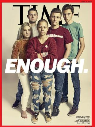 Time magazine cover of the Parkland students.  Picture:  Time
