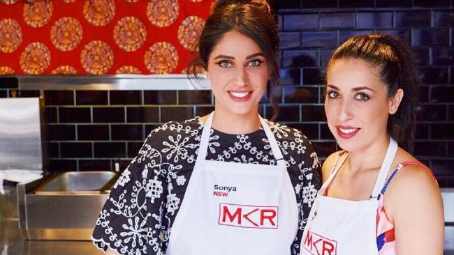 MKR contestants Sonya and Hadil were excused from the table. Picture: Instagram @sonyahadilau