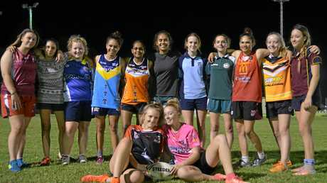 READY TO PLAY: The South Burnett under-16 girls rugby league team will play at the Sunshine Coast on Friday night.