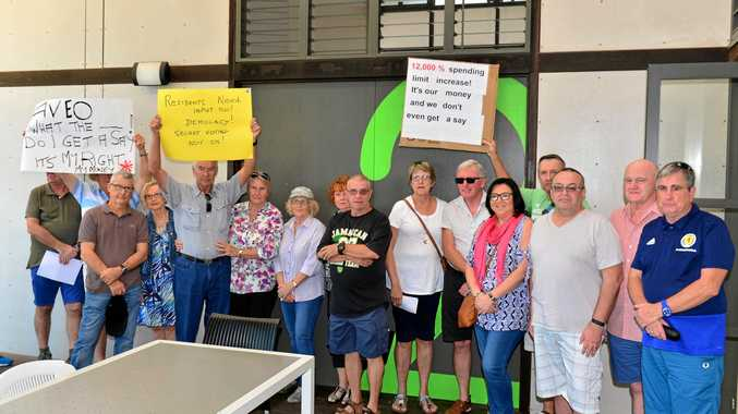 AGM of Ridges principal body corporate saw owners protesting about potential levy rises.