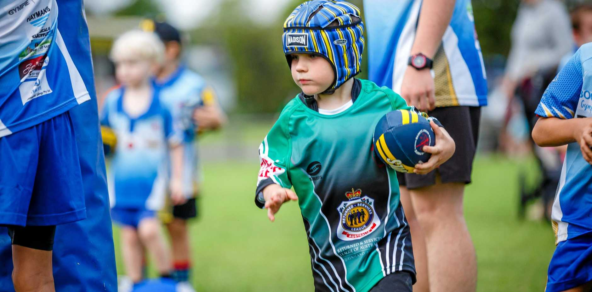SUPERSTAR: Archer Osbourne learning the basics to hopefully run onto the field as a Stag.