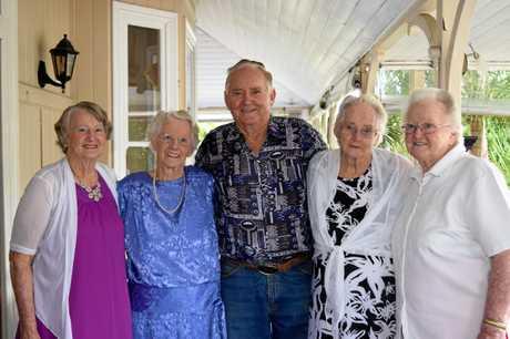 Winifred and her reaming siblings Noela Ryan, Alf Sallaway, Daphne Kenyon and Beryl Steele.