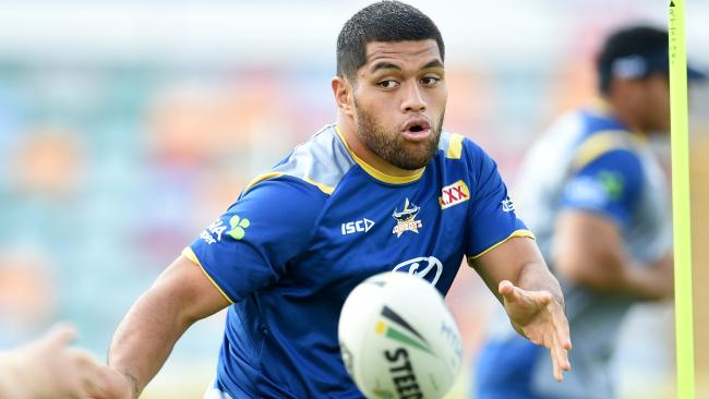 John Asiata. North Queensland Cowboys during training at 1300smiles Stadium. Picture: Alix Sweeney