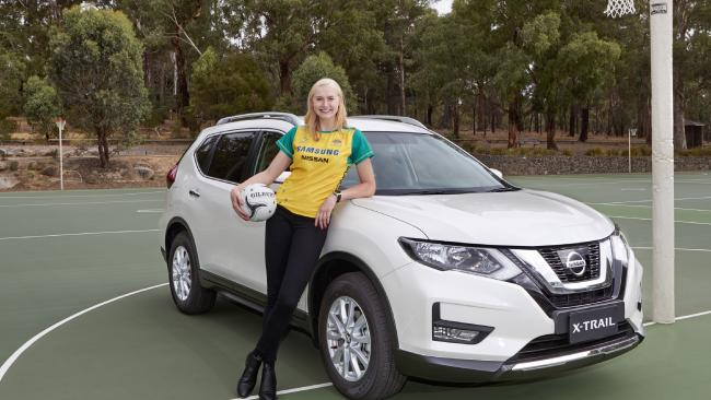 Netballer Jo Weston with her Nissan X-Trail.