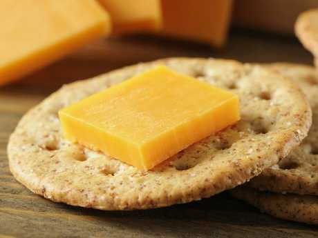 Cheese and Crackers are a good late night snack.