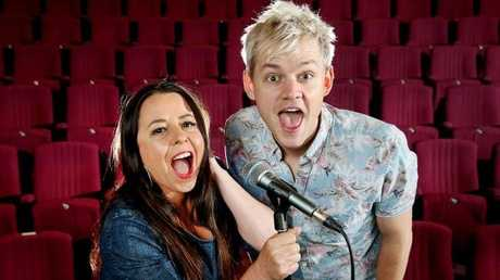 Myf Warhurst and Joel Creasey will be hosting and commentating the SBS Eurovision coverage in Portugal which kicks off on May 19. Picture: Ian Currie