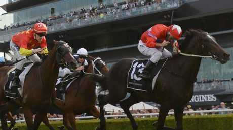 Seabrook finished her campaign with a strong win in the Champagne Stakes. Picture: AAP