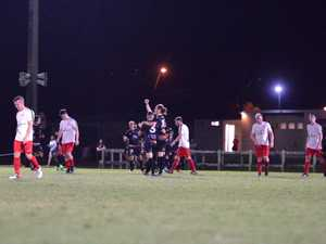 Magpies Crusaders United players celebrate after a