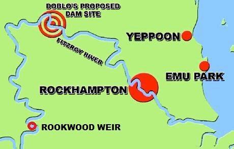 WATER DEBATE: Rookwood Weir is locked in but Doblo wants the Gap Dam.