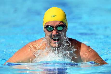 Blake Cochrane swims at the Commonwealth Games.