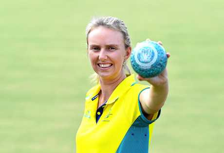 Kelsey Cottrell at the Gold Coast Commonwealth Games.