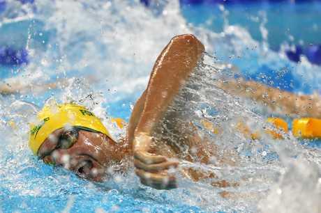 Swimmer Daniel Fox.