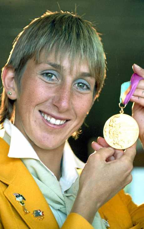 Glynis Nunn with her 1984 Olympic medal.