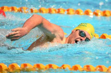 Liam Schluter in action at the 20018 Commonwealth Games.