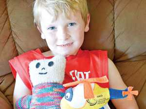 LUCKY ESCAPE: Boy's leg saved after freak mower accident