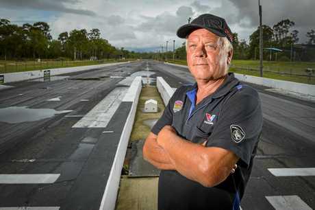 Central Queensland Drag Racing Association president Col O'Connor.