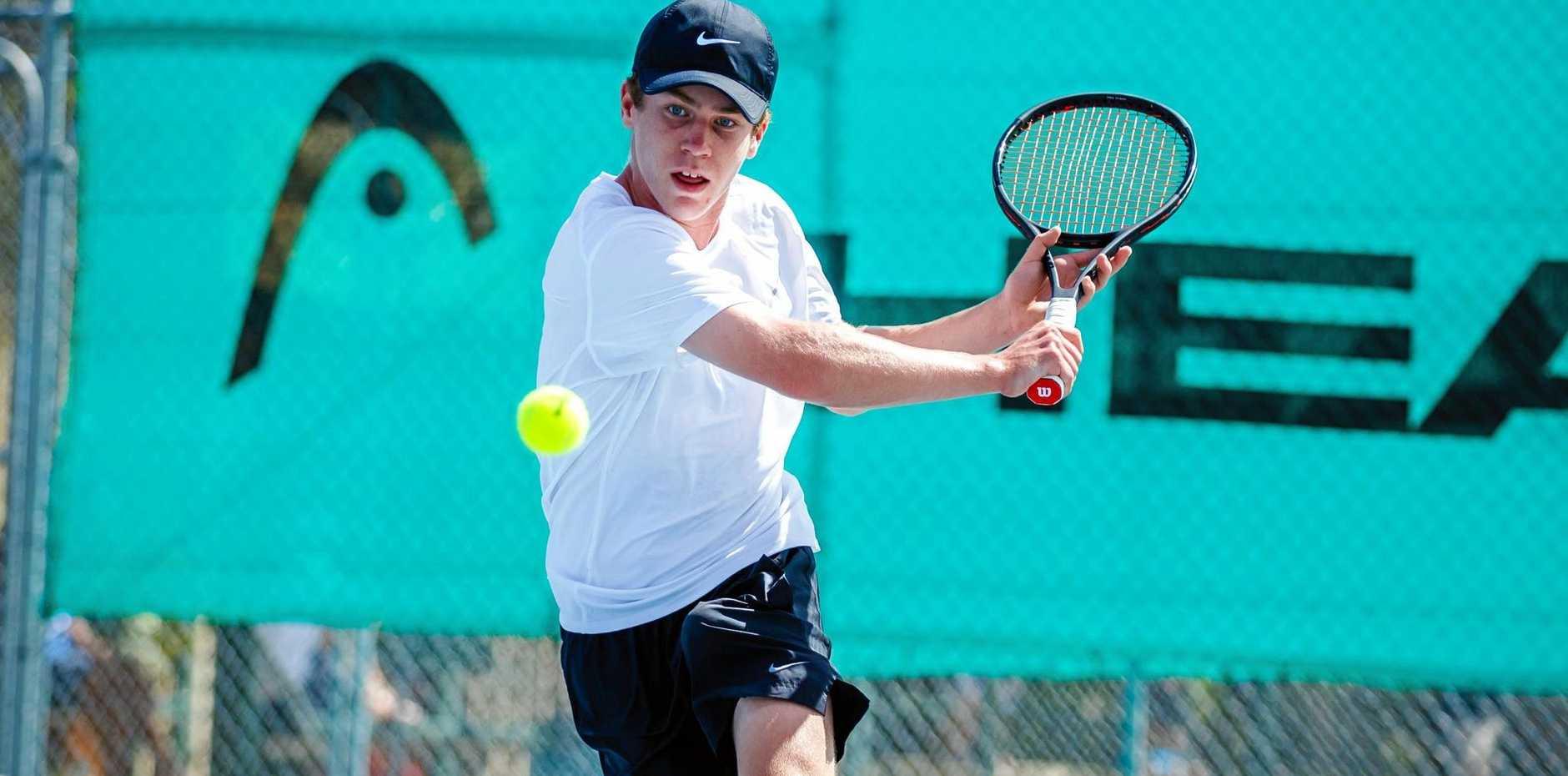 Tennis - Zac Larke from Brisbane in the Men's Final