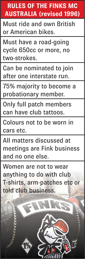 Finks Motorcycle Club rules.