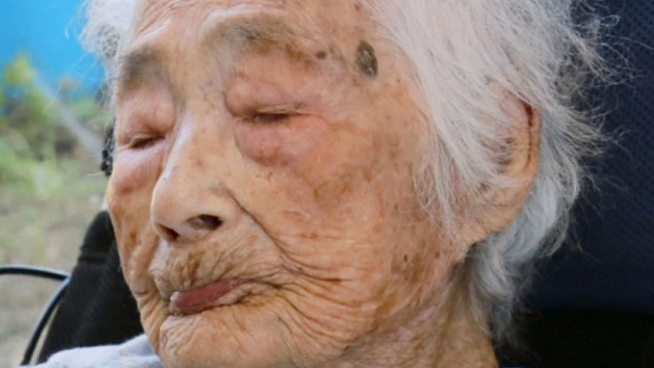 Nabi Tajima, the world's oldest person, died on Saturday, April 21, 2018. She was 117-years-old. (Kikai Town/Kyodo News via AP)
