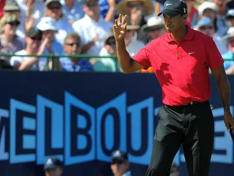 Tiger's last moment of adulation before his downfall was in Melbourne in November 2009.