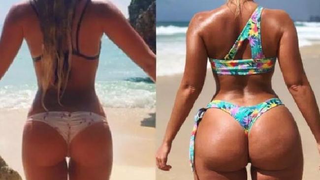 Bikini designer Karina Irby, 28, proudly showed off her