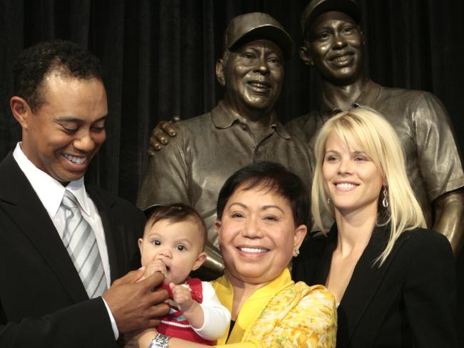 In many ways Tiger Woods was still living in the shadow of his father, and knew he would be breaking his mum's heart as much as his wife's when they found out about the affairs. Picture: AP