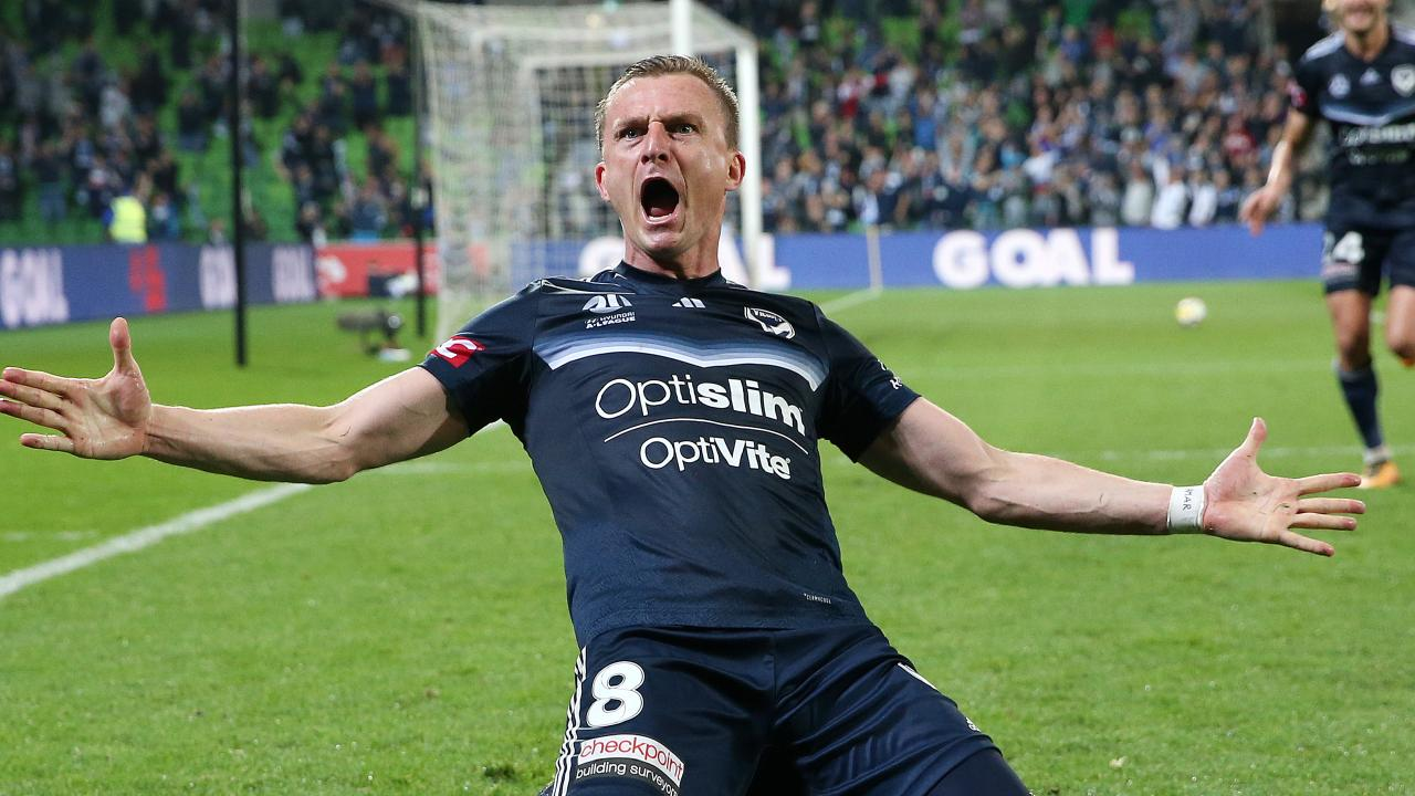 Besart Berisha produced something truly inspirational to lift Melbourne Victory.