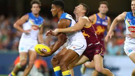 Touk Miller was best on ground as he won plenty of the ball but also limited Dayne Zorko's influence. Picture: Getty