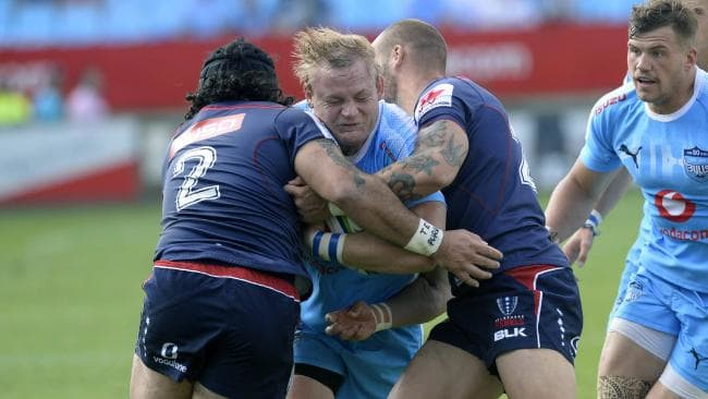 Adriaan Strauss scored the first try of the match for the Bulls.
