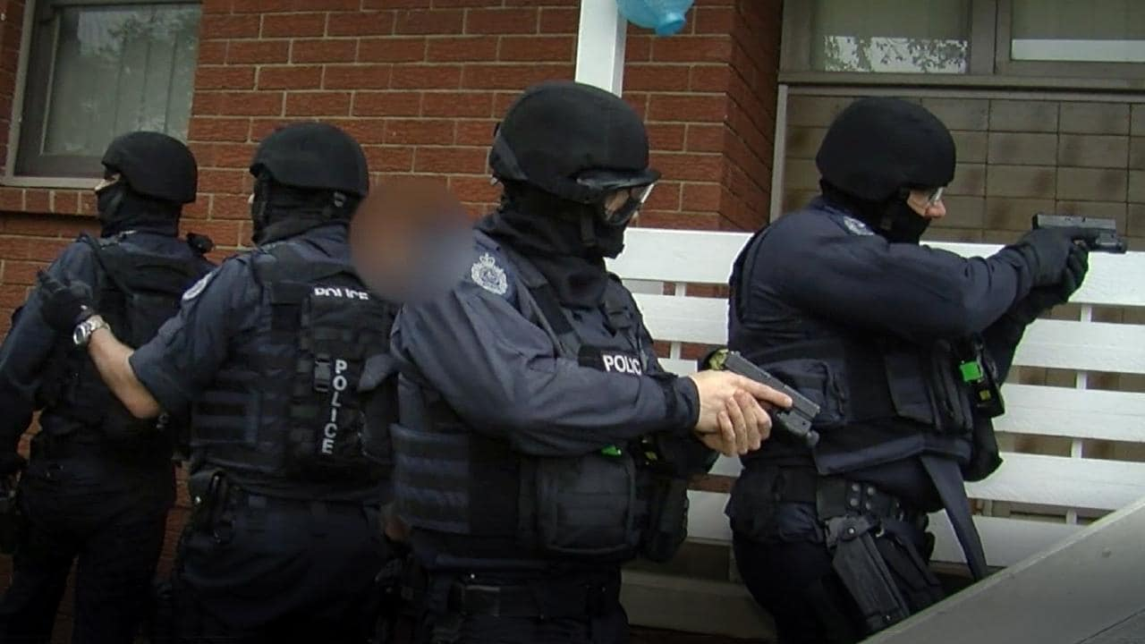 Heavily armed officers raided Gillette-Rothschild's house in Tregear.