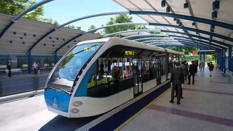 Artists impression of the Brisbane Metro.