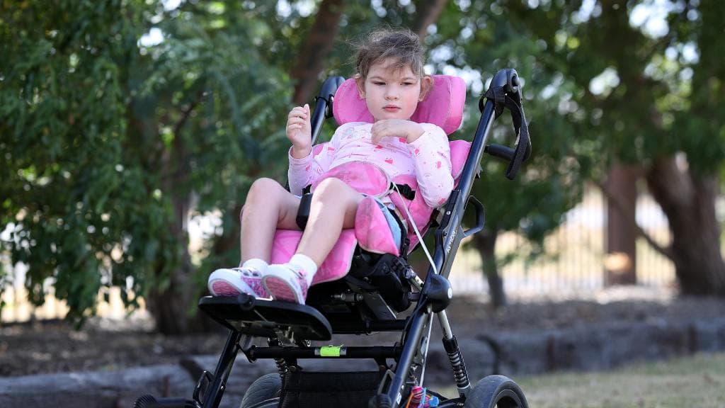 Mackenzie Bracken, 5, requires full-time care for her cerebral palsy.