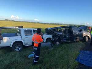 Child trapped in Bruce Hwy crash wreckage, major delays