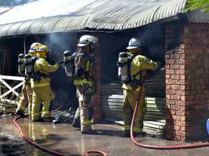 Suspicious fire ravages home