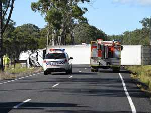 Truck roll over, Old Toogoom Rd