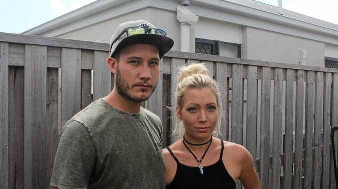 Bradley Skinner with his sister Amanda at their Blacks Beach home.