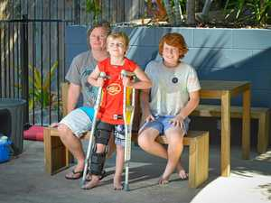 Boy's leg saved after freak mower accident