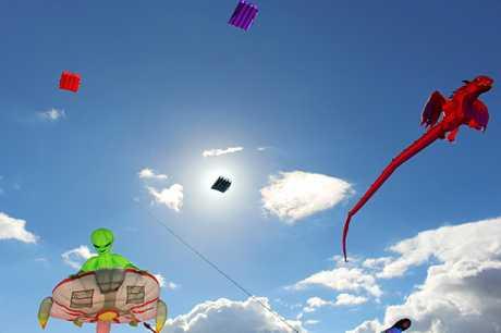 Kites courtesy of Redcliffe Kite Club at the Killarney Picnic Basket Day 2018.