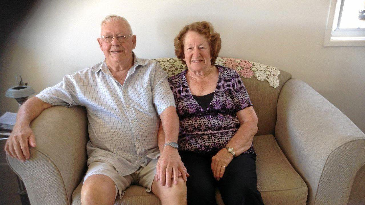 DIAMOND LIFE: John and Evelyn Diamond will celebrate their 60th wedding anniversary on Thursday in Rockhampton.