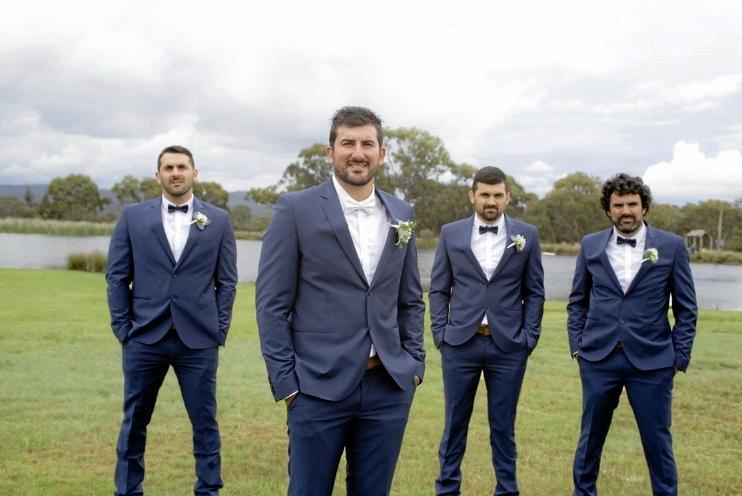 Brothers work perfectly as groomsmen.