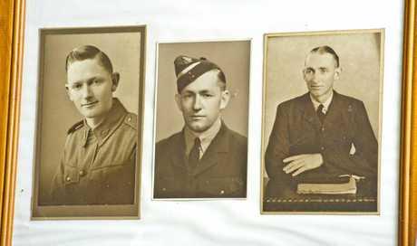 A picture of  war veteran Owen Benn and his brothers John  Benn and Colin  Benn. Monday, 23rd Apr 2018.